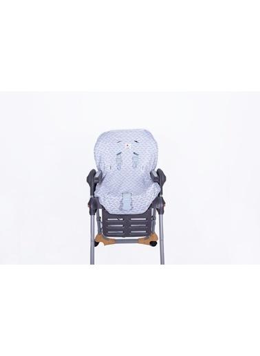 Mama Sandalyesi Kılıfı Gray Whale-Moms Cotton
